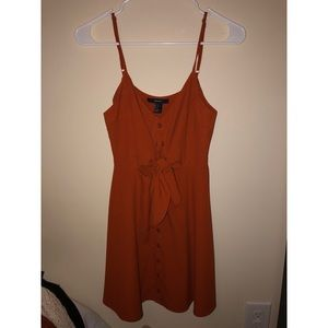 Forever 21 spaghetti strap button up dress